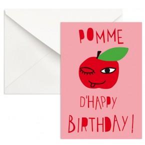 Pomme d'Happy Birthday ! - rose
