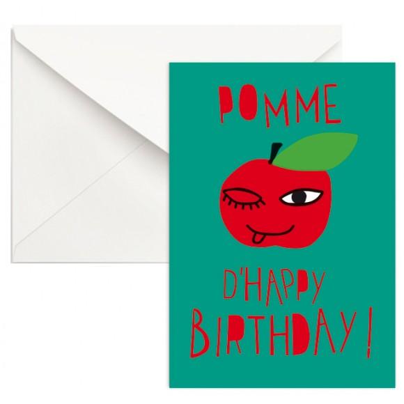 Pomme d'Happy Birthday ! - vert