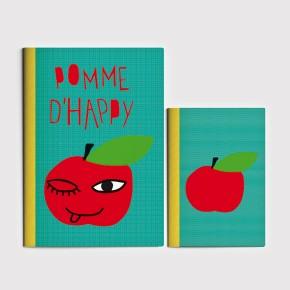 Pomme d'Happy - vert A5 + A4
