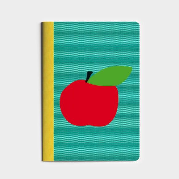 cahier A6  Pomme d'Happy - vert