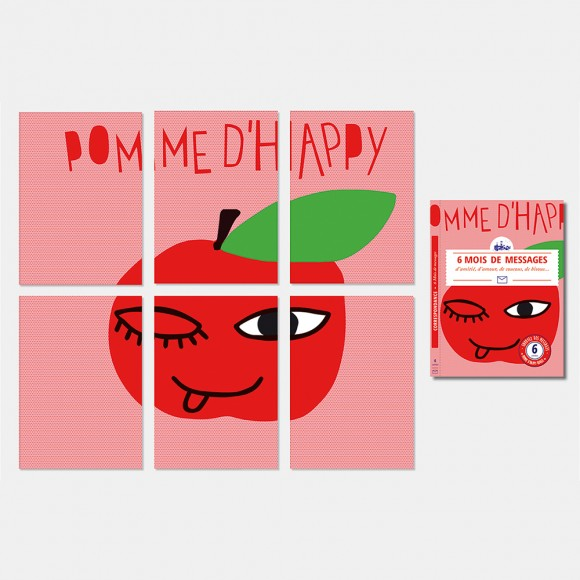 Ma Correspondance Pomme d'Happy - rose