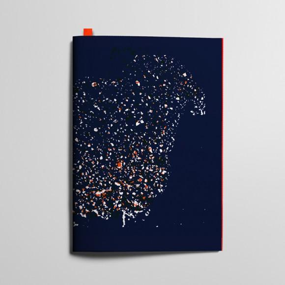 Collection Texture - Tachetés - Bleu Profond et Rouge Coquelicot