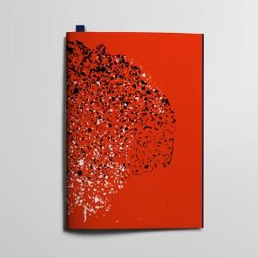 Collection Texture - Tachetés Rouge Coquelicot et Bleu Profond et