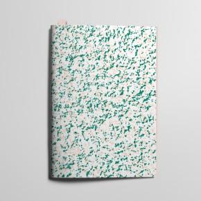 Collection Texture - Mouchetés Rose délicat et Vert Emeraude
